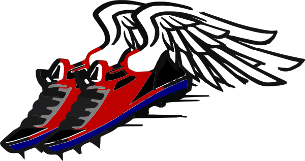 Clipart Track Shoe With Wings.