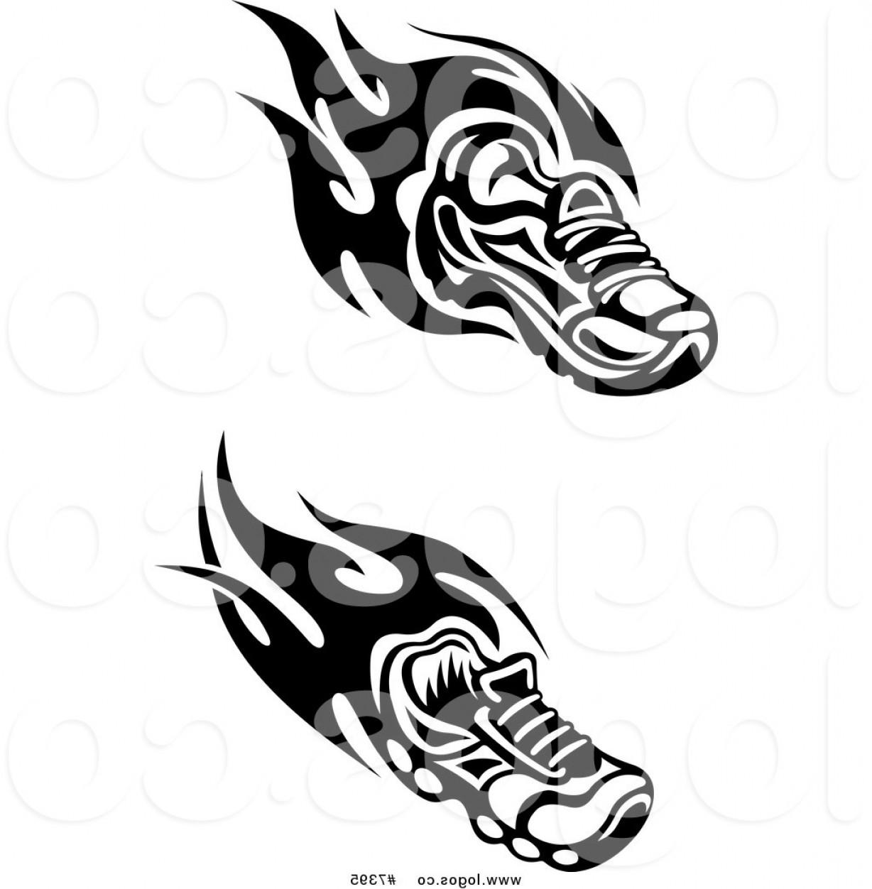Top Track Shoe Vector Art Design.