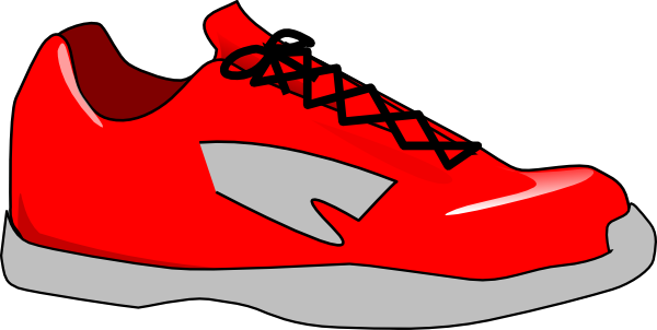 Tennis Shoe Silhouette Clipart.