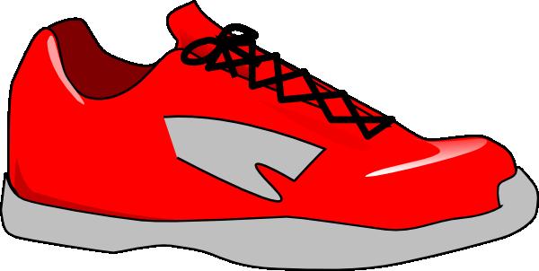 Tennis Shoe Silhouette Clipart.