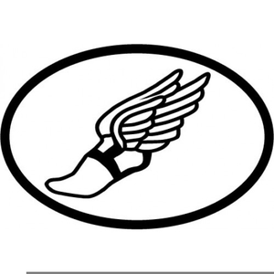 Free Clipart Track Shoe With Wings.
