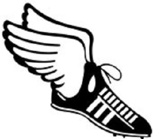 Track Clip Art Track Shoe With Wings.