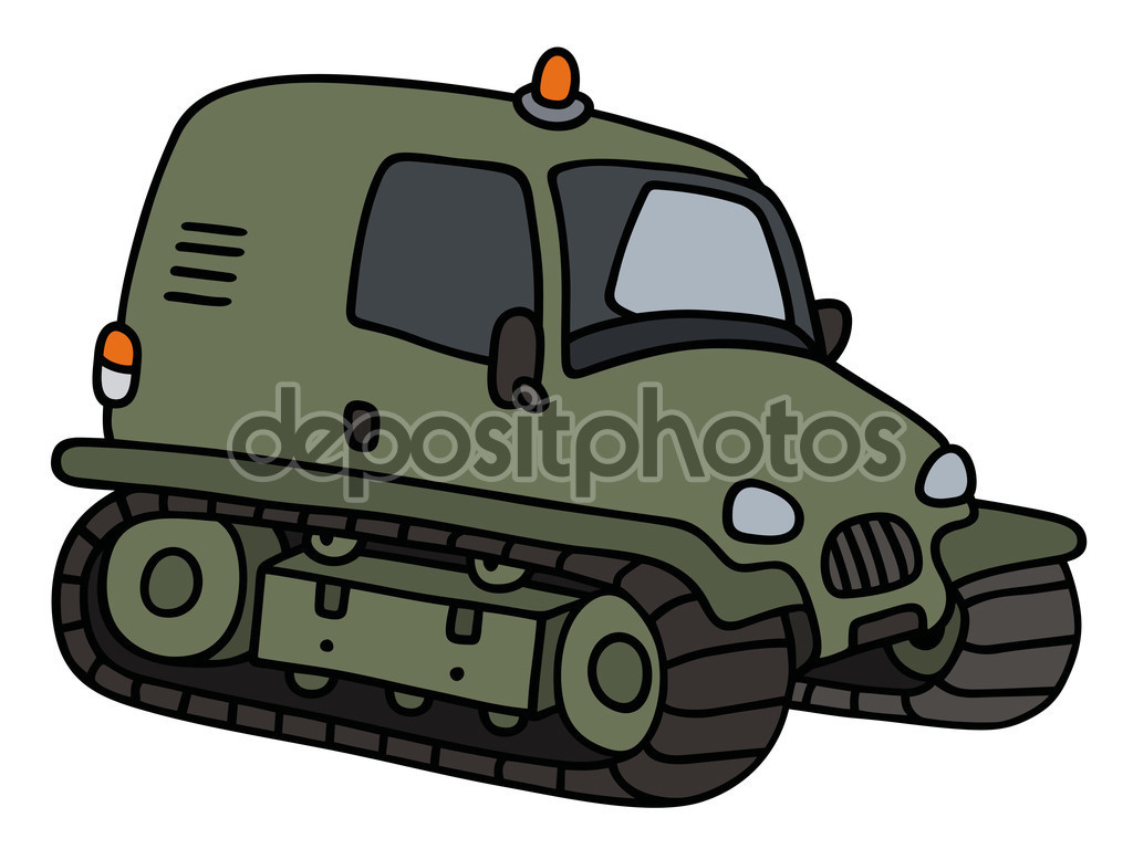 Green tracked vehicle — Stock Vector © 2v #125241574.