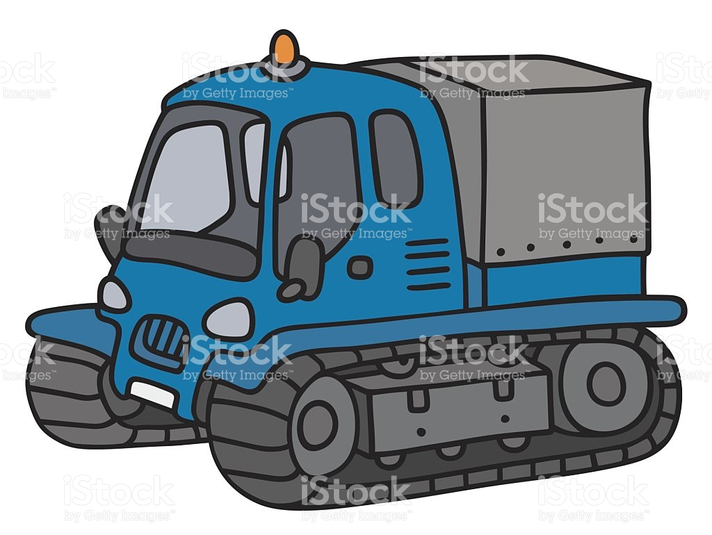 Funny Tracked Vehicle stock vector art 612520688.