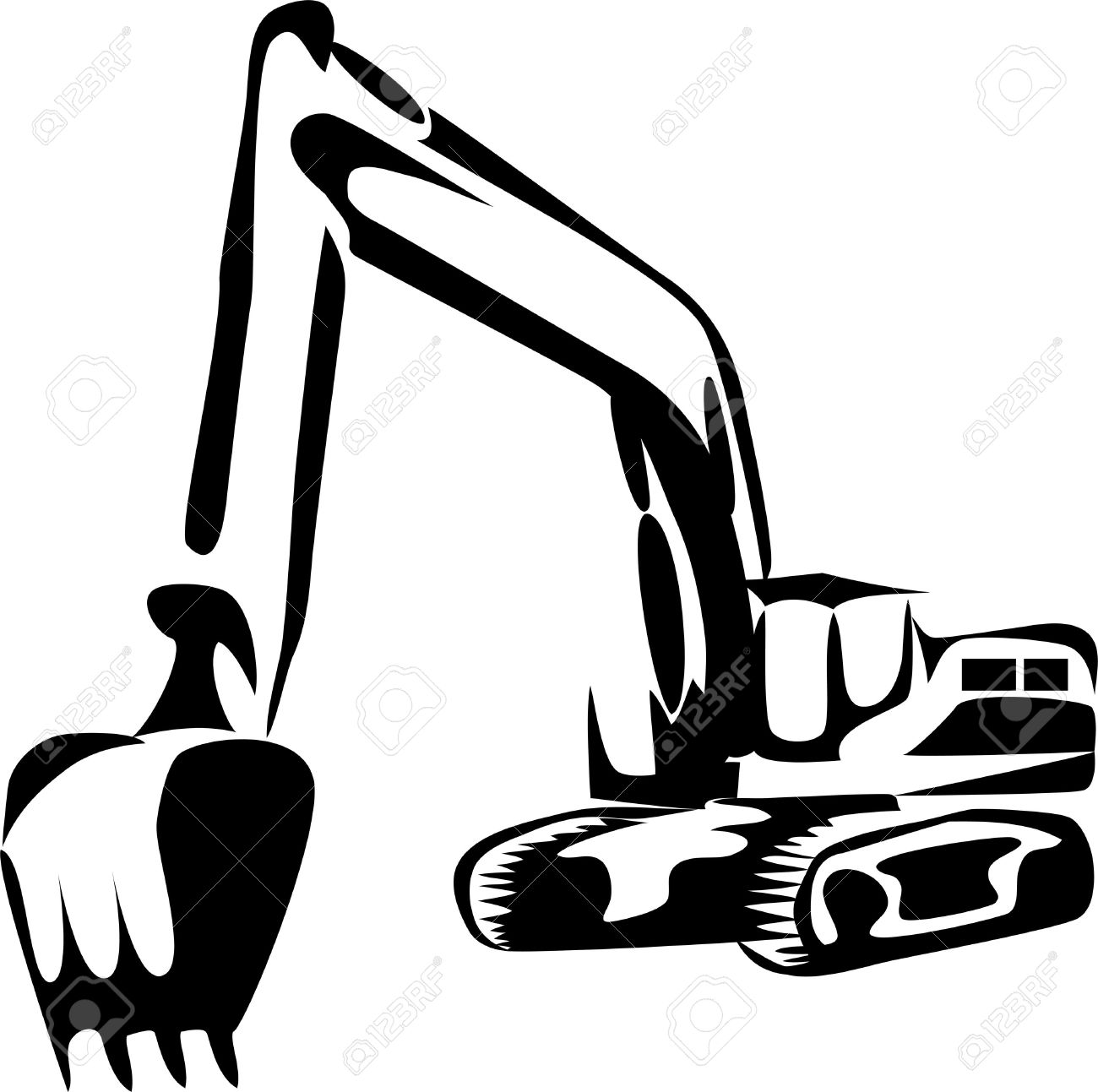 Trackhoe clipart 5 » Clipart Station.