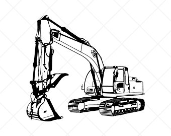 Trackhoe Clipart (88+ images in Collection) Page 1.