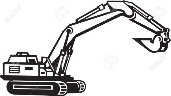 Excavator Clipart.