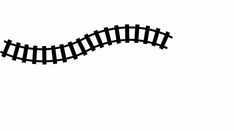 Railroad tracks clip art.