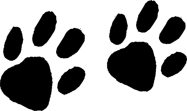 Bear Tracks Clipart.