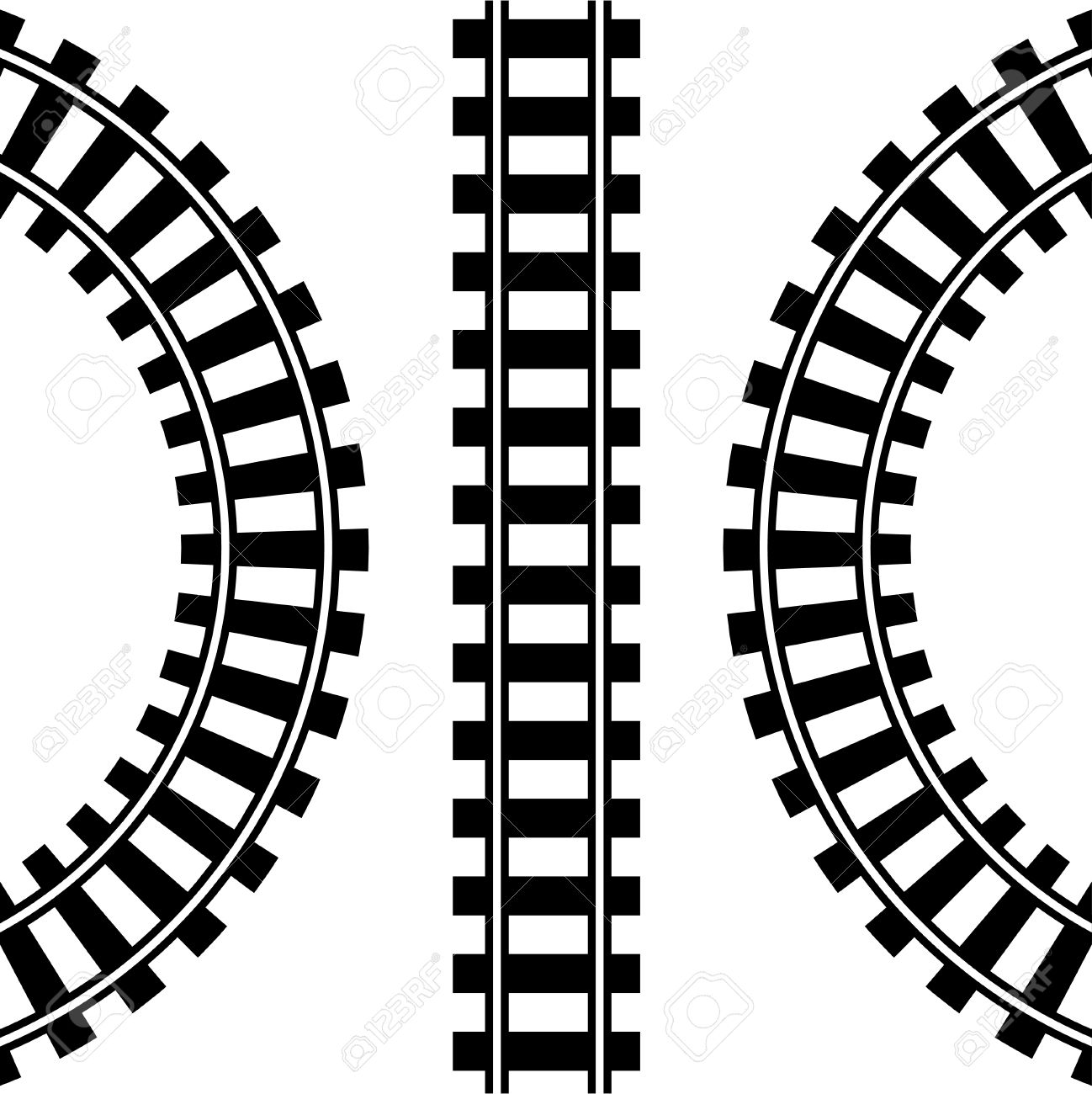 Train Tracks Clipart.