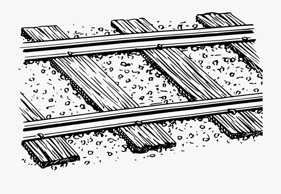 Track Clipart Black And White.