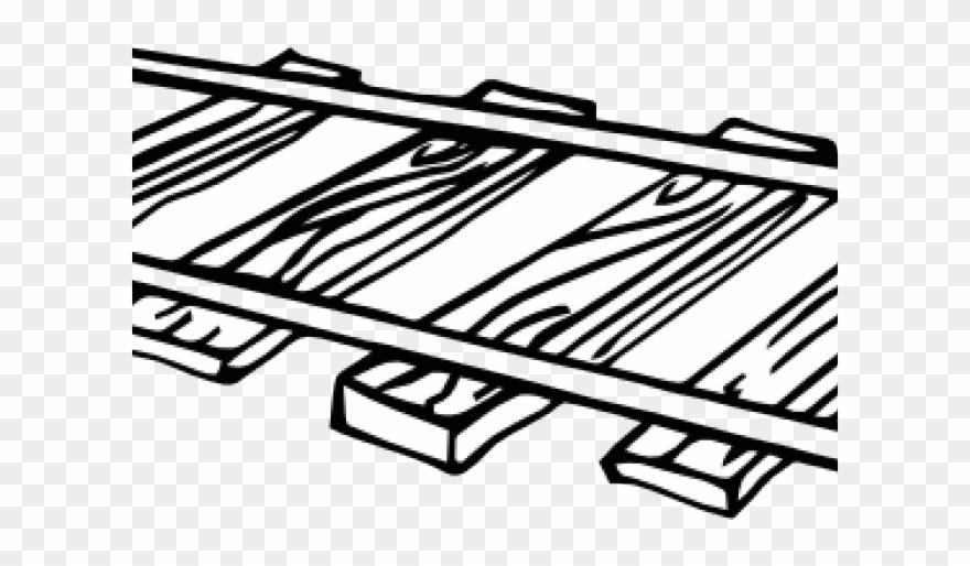 Train Track Clipart Black And White.