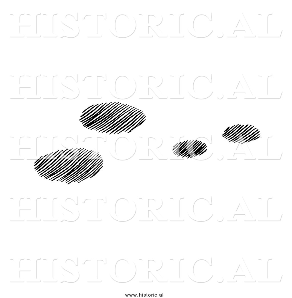 Rabbit Tracks In Snow Black And White Clipart.