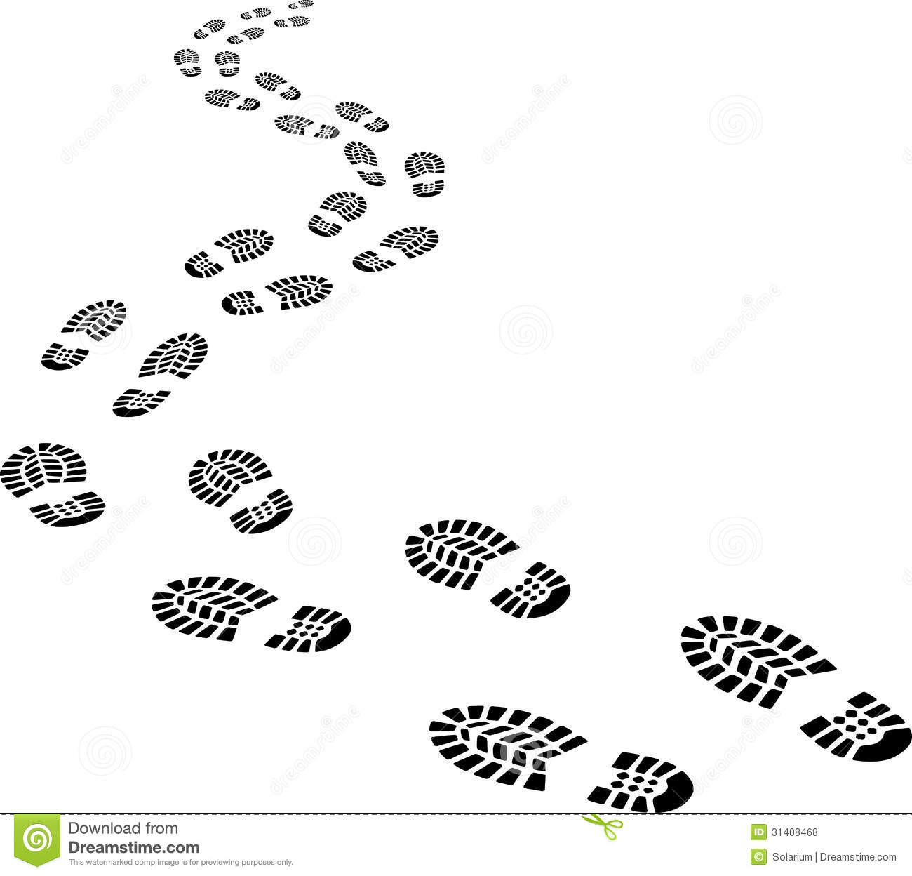 Walking Footprints Clipart.