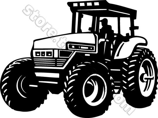 Tractor Vector Clipart.