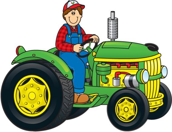 Farm Tractor Clipart.