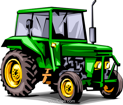Farm tractor Royalty Free Vector Clip Art illustration.