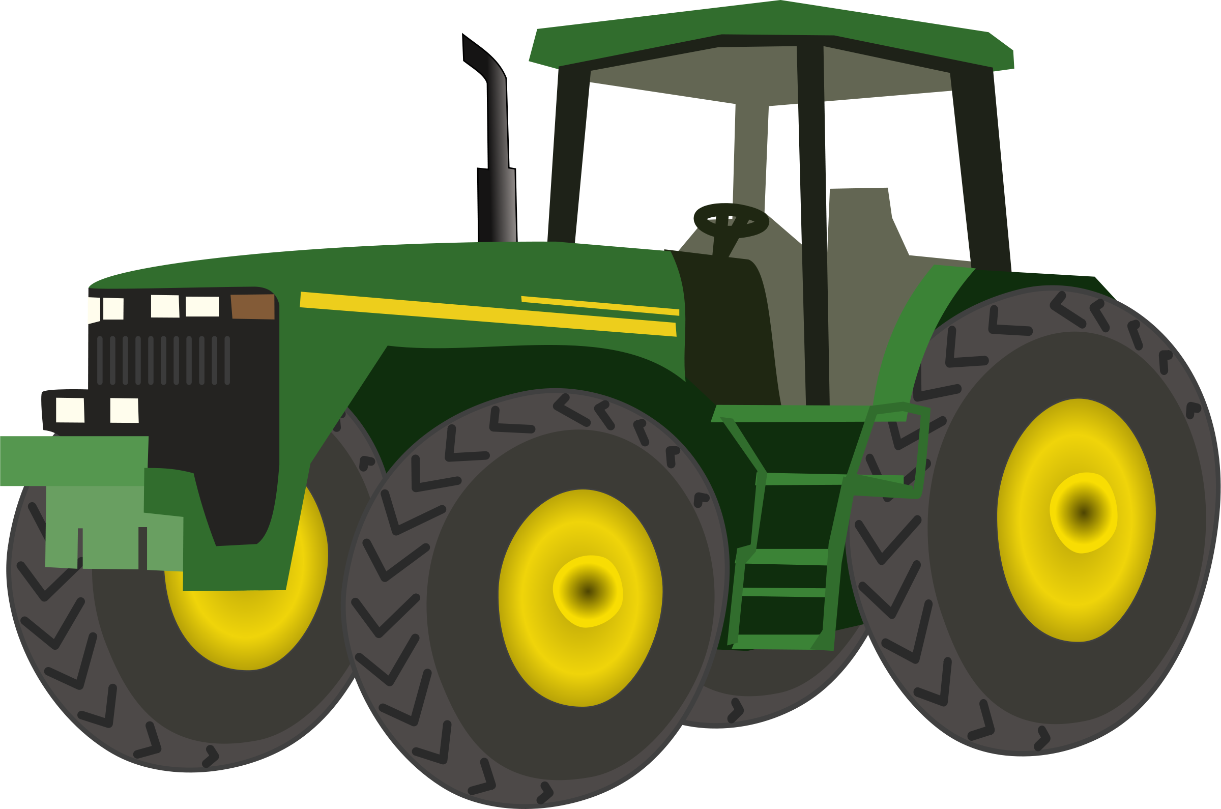 Green Tractor PNG Image.