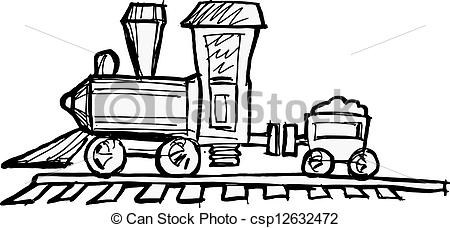 Steam engine clip art.