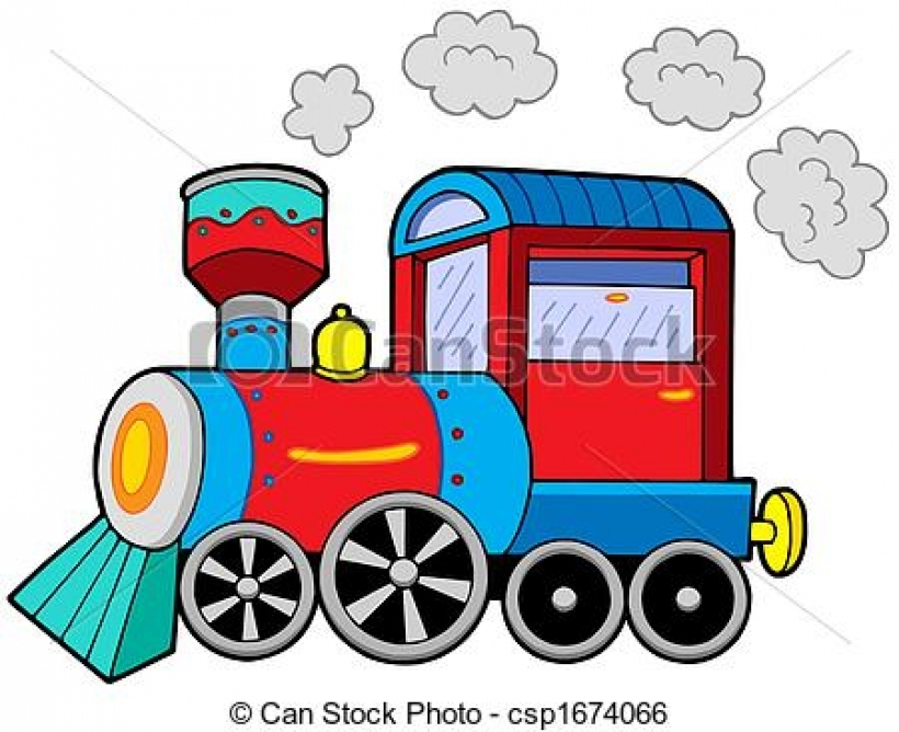 Steam engine clipart.