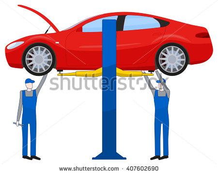 Car Hoist Stock Photos, Royalty.