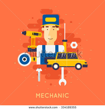 Changing Oil Your Car Tire Suspension Stock Vector 276591473.