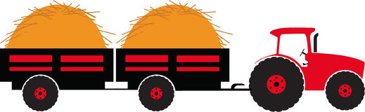 Tractor with wagon clipart.