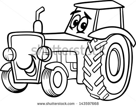Cartoon Tractor Stock Images, Royalty.