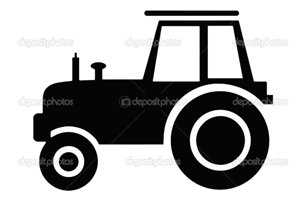Tractor Clipart Black And White.