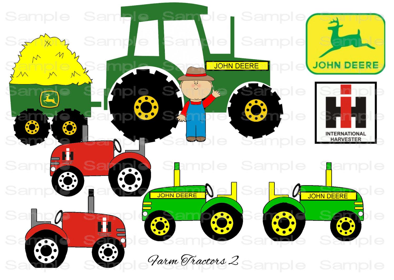 59+ John Deere Tractor Clipart.
