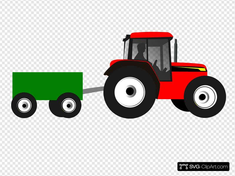 Tractor Clip art, Icon and SVG.