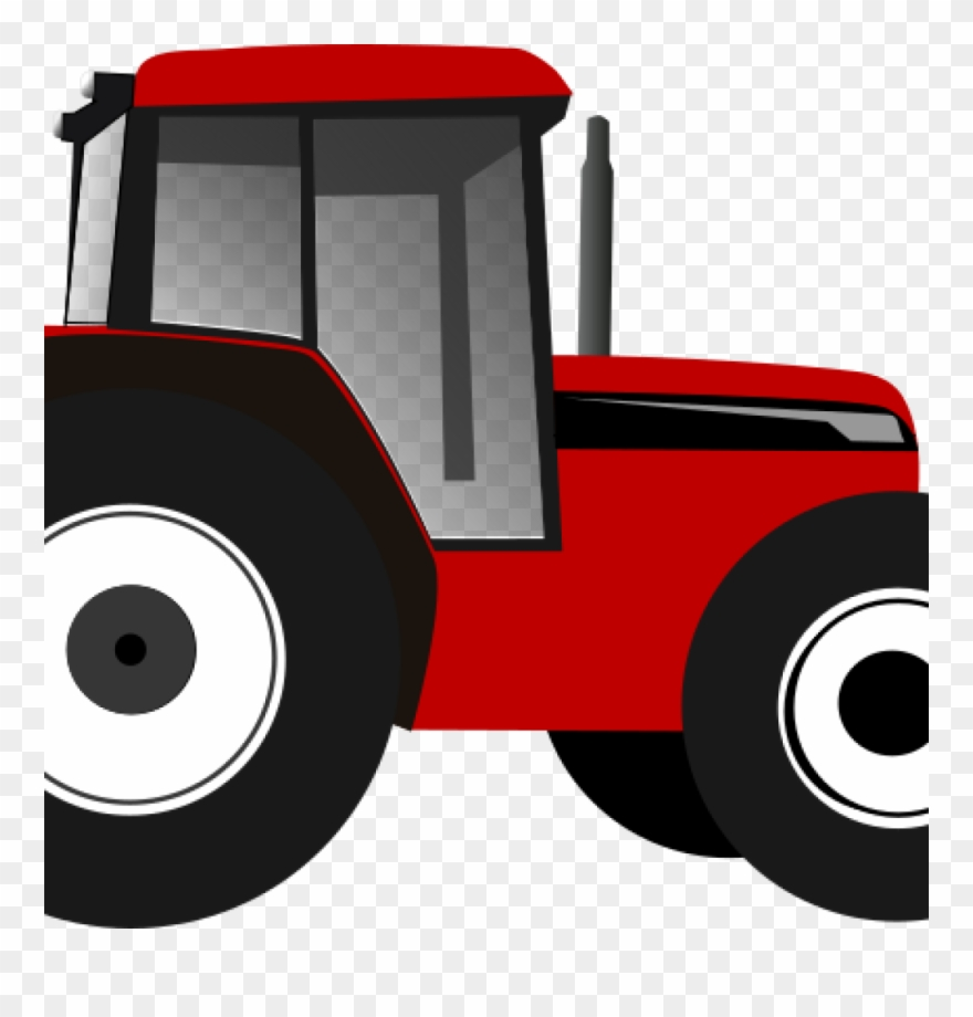 Tractor Clipart Red Tractor Clip Art At Clker Vector.
