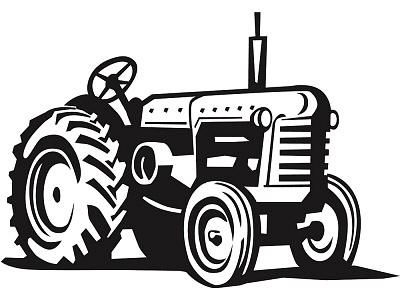 44+ Tractor Clipart Black And White.