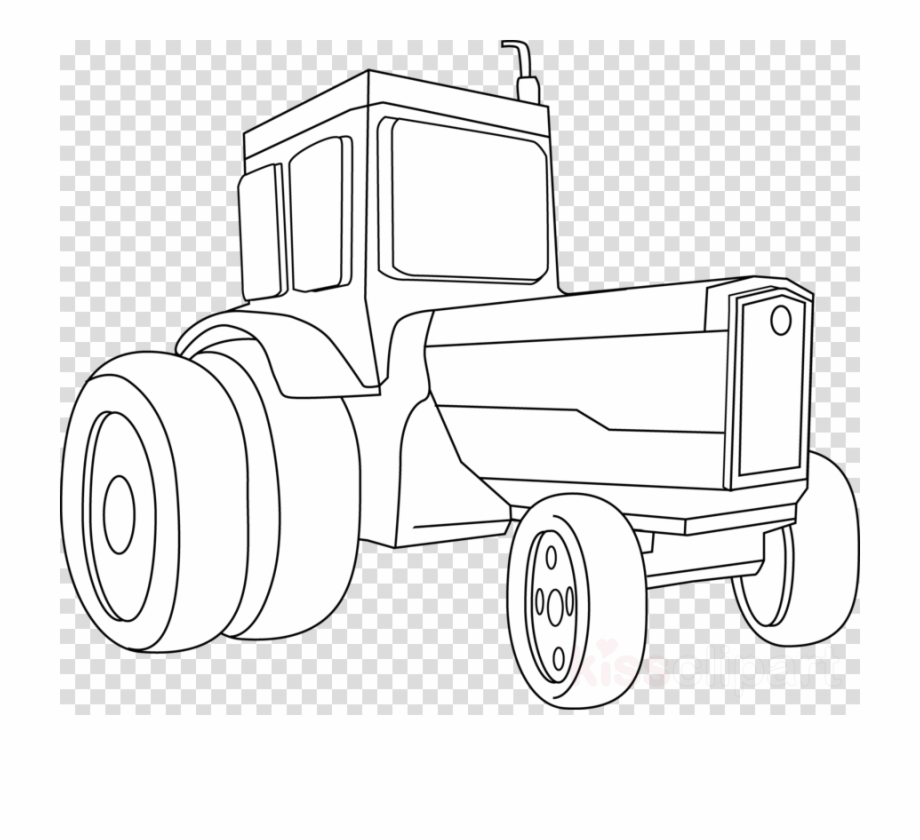 Tractor Black And White Clipart John Deere Tractor.