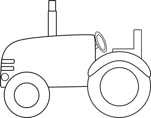 Tractor border clip art white tractor clip art image black.