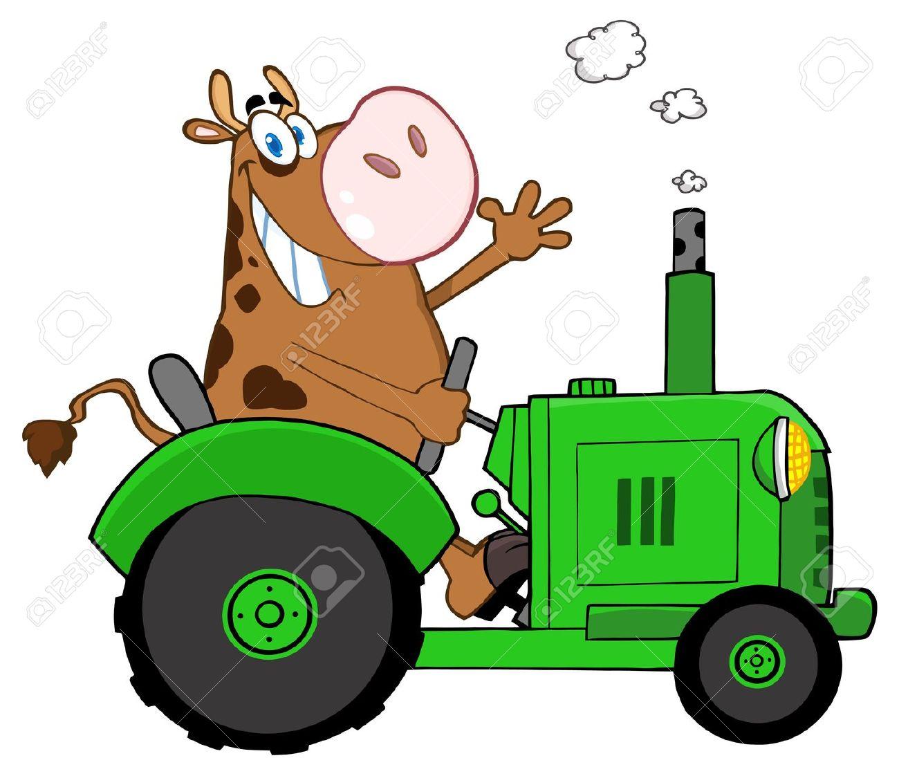 Free farm tractor clipart.