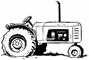 45+ Tractor Clipart Black And White.