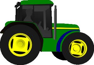 John Deere Green Tractor Clipart.