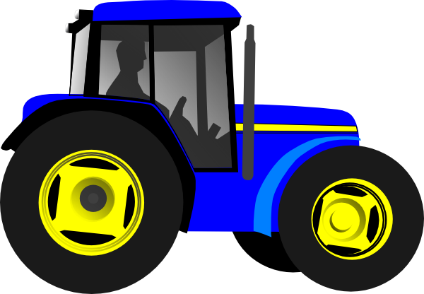 Blue Tractor Clip Art Pictures.