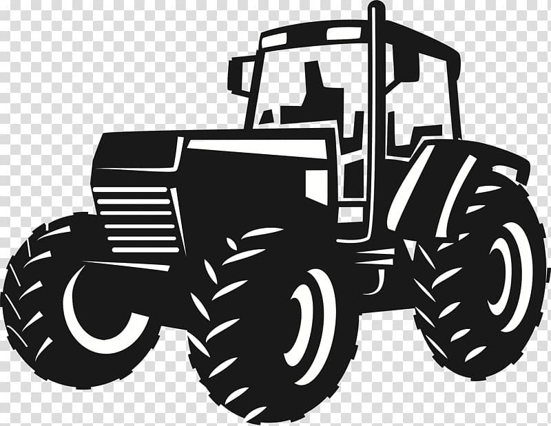 Black tractor illustration, John Deere Tractor Agriculture.