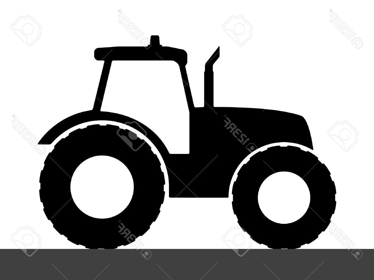 Best Tractor Silhouette Image » Free Vector Art, Images.