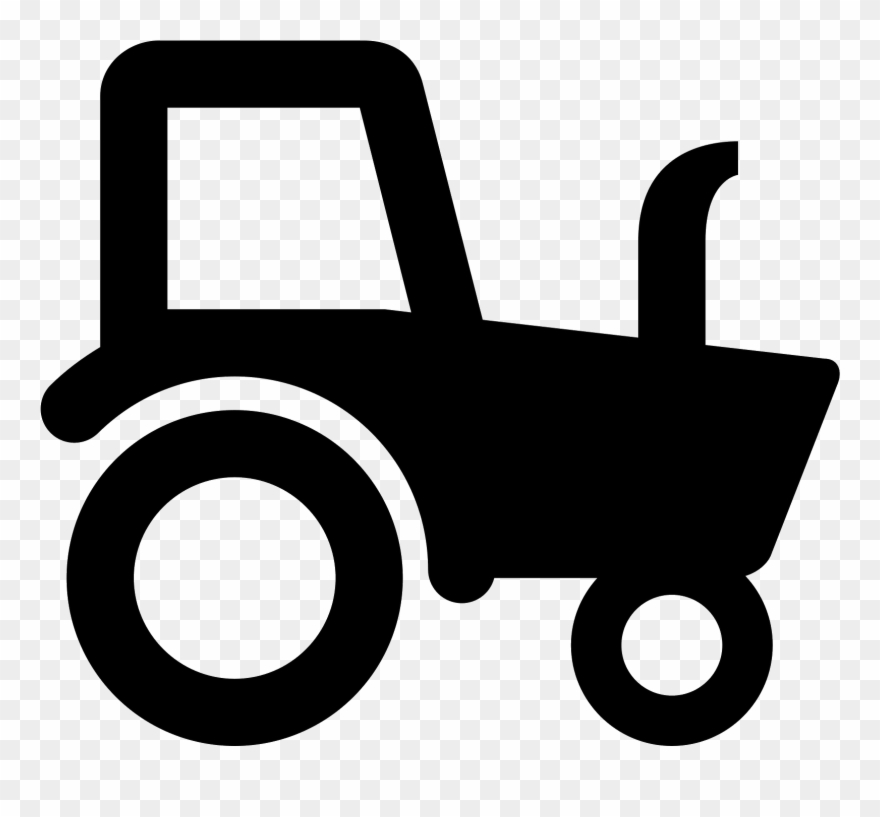 Lawn Tractor Icons.