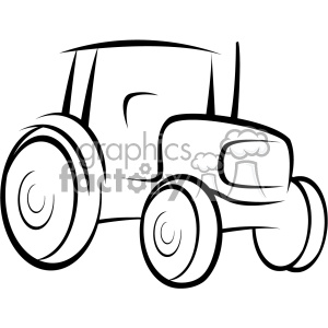 tractor vector outline . Royalty.