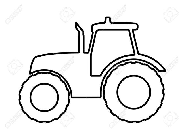 Tractor Outline Drawing.