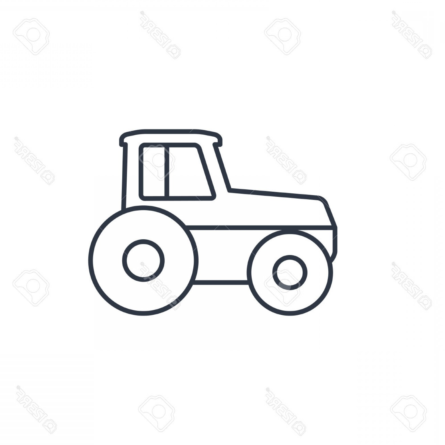 Attractive Design Ideas Tractor Outline Vector Icon Royalty.