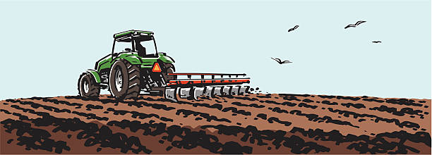 Tractor plowing a field. » Clipart Station.