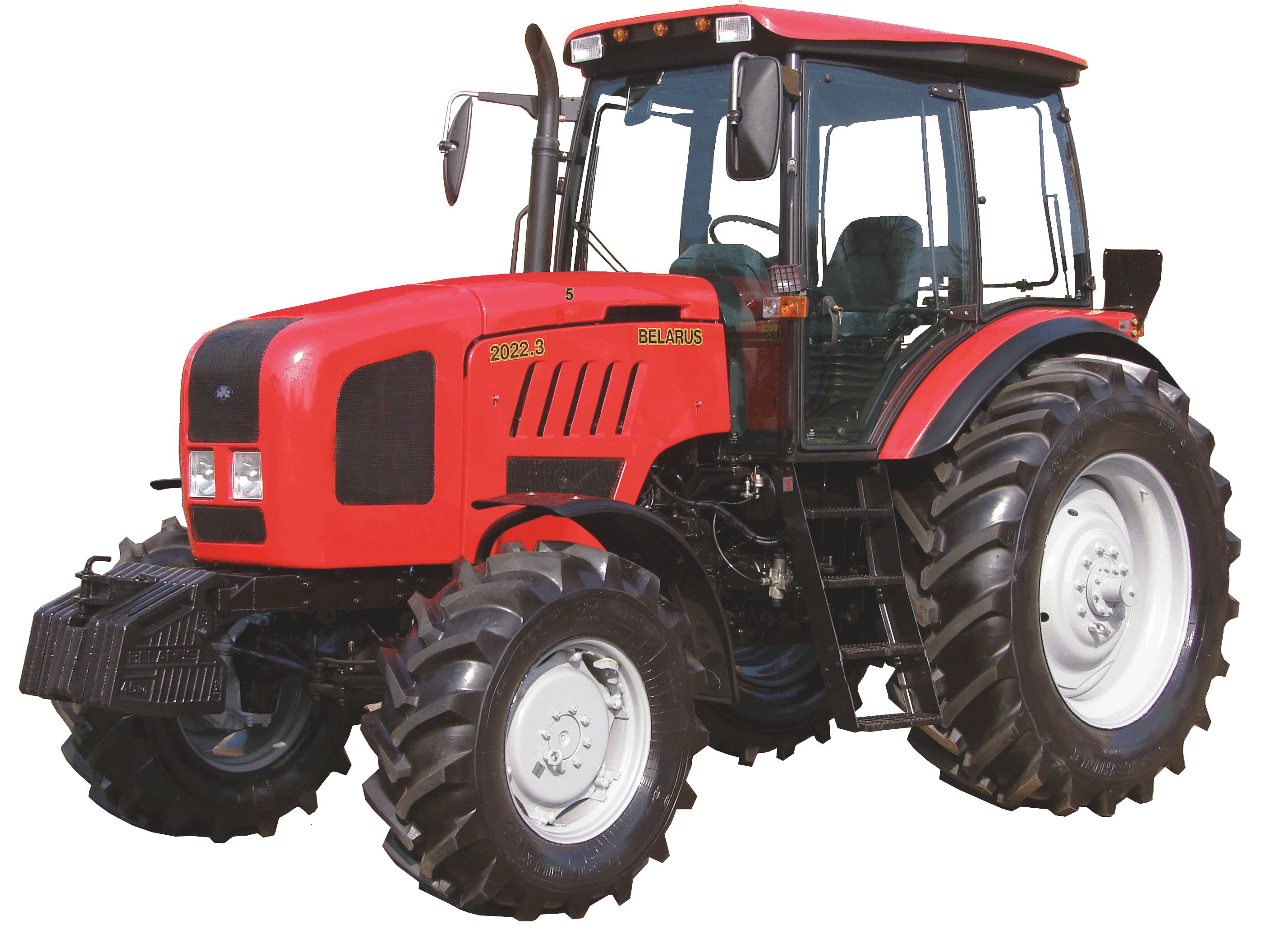 Red Tractor PNG Image.