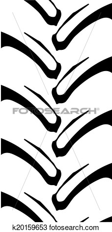 Tractor tire tracks clipart.