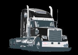 Tractor Trailer Vector.