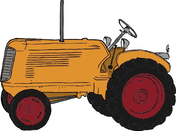 Tractor clip art Free vector in Open office drawing svg ( .svg.